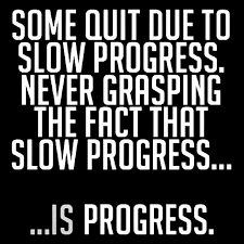 Image of progress quote