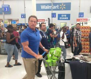 Arnold shopping at Walmart